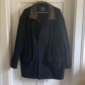 Burberry Navy Wool Coat XL Men